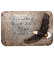 PATRIOTIC SERVICE EAGLE PLAQUE