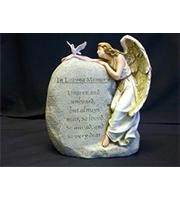 RMN Loving Memory Angel Plaque with Dove
