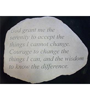 Large stone KB Serenity Prayer