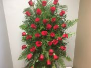 Standing Spray- Classic Red Roses