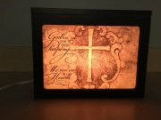 Lighted Photo Memory Box- In our hearts