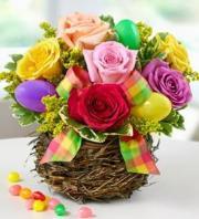 BLM Easter Egg Rose Basket