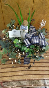Forget-Me-Not Willow Tree Basket