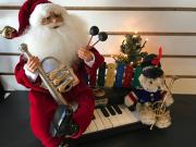 Lighted musical Santa