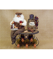 5 Bottle Wine Holder Santa 17