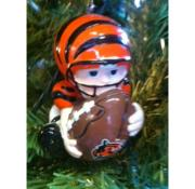 Bengals Lil Boy with Football Ornament
