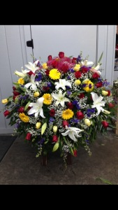 Beautiful Blessing Casket Spray