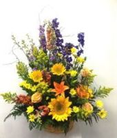 YELLOW BASKET ARRANGEMENT