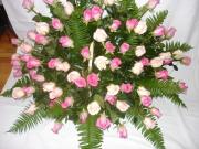 Funeral Casket Spray Pink Roses