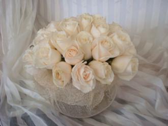 Cream Rose Bubble Bowel