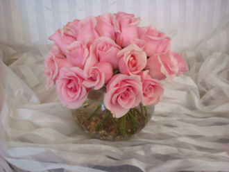 Pink Rose Bubble Bowel