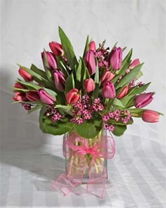 Square Tulip Vase