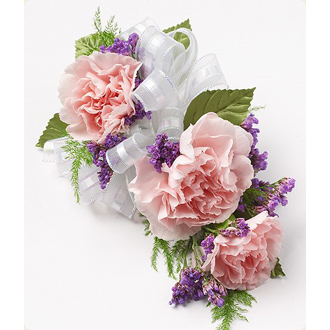 Pink Carnations & Purple Statice