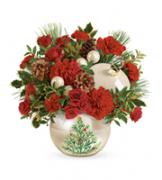 Flowers By Bauers Classic Pearl Ornament Bouquet