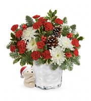 Flowers By Bauers Send A Hug Bear Buddy Bouquet