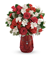 Flowers By Bauers Red Haute Bouquet