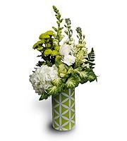 Flowers By Bauers Trellis Green Bouquet