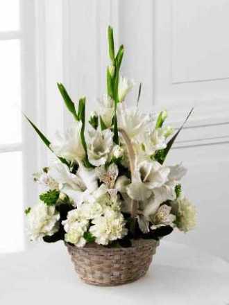 FTD Florist Designed Funeral Sympathy Basket