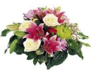Arrangement of Multi Colored Flowers, wrapped