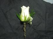 Wrapped Stem Rose Boutonniere