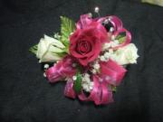 3 Sweetheart Rose Corsage with Bling