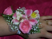 Sweetheart Rose and Alstroemeria Corsage