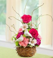 Love Bird Nest Bouquet