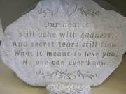 Our Hearts ache memory stone