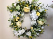 White and Yellow Wreath