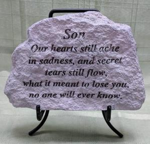 Son Concrete Plaque