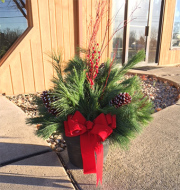 Holiday Porch Pots
