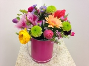 PARTY PAINT CAN FLOWER ARRANGEMENT