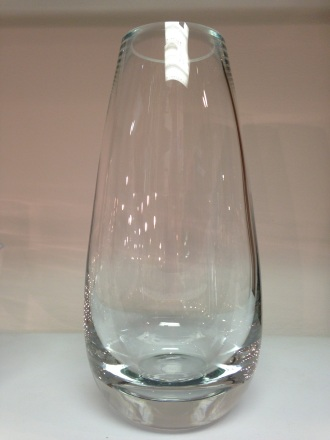 HAND BLOWN TEARDROP GLASS VASE
