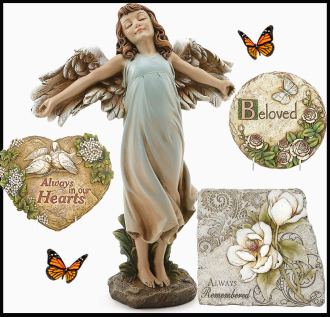 Angel statues and other keepsake sympathy gifts for delivery same day to the funeral home, business or home address with Sunnyslope Floral