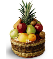 Fruit basket with seasonal fruits available for same day delivery to Grand Rapids, Byron Center, Grandville, Holland and Rockford with Sunnyslope Floral