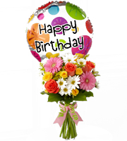 colorful birthday flowers, balloons & other birthday gifts for delivery in Grand Rapids, Grandville, Holland & Walker by Sunnyslope Floral