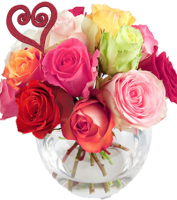 European style dozen valentine roses in grand rapids, Sunnyslope Floral