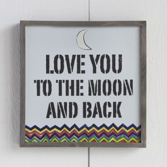 Love You To The Moon Bungalow Art