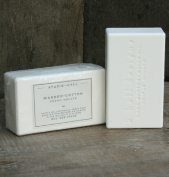Washed Cotton Milled Shea Soap