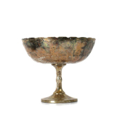 Mercury Glass Pedestal Compote