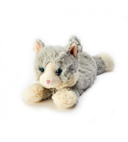 Warmies® Cozy Plush Grey Laying Down Cat