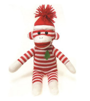 Holiday Sock Monkey Plush