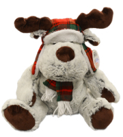 Holiday Moose Plush