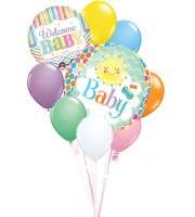 Welcome Baby Balloon Bqt.