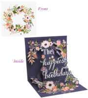Birthday Wreath Pop-up Card