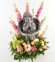 Wings Angel with Flowers