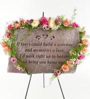 Decorated Tears Plaque w/Easel