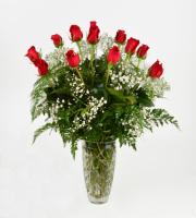 12 Roses Crystal Vase