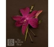 Purple Dendrobium Orchid Boutonniere