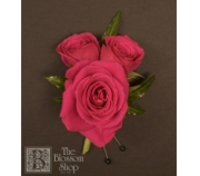 Hot Pink Spray Rose Boutonniere